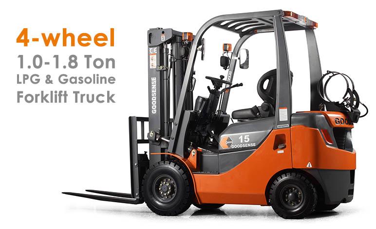 1-1.8 Ton LPG Gasoline Forklift