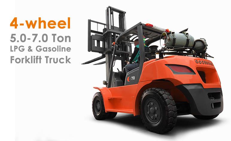 5-7.0 Ton LPG Gasoline Forklift Truck