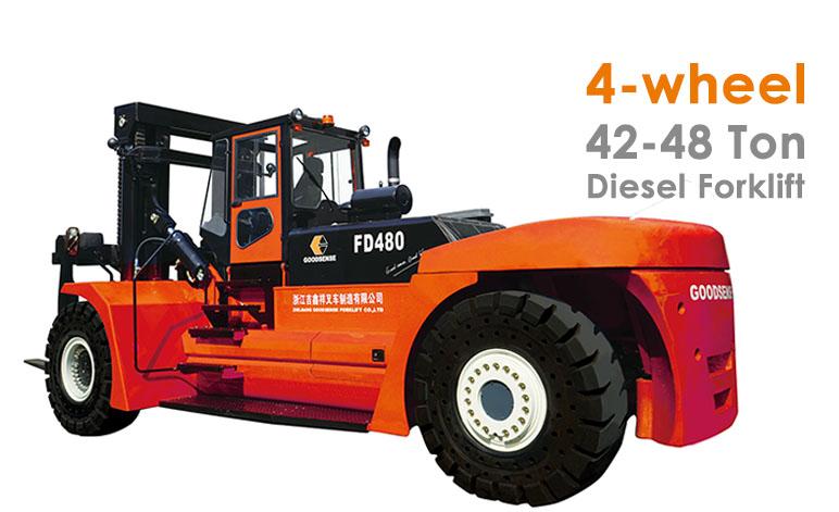 4 wheel 42-48 Ton Diesel Forklift