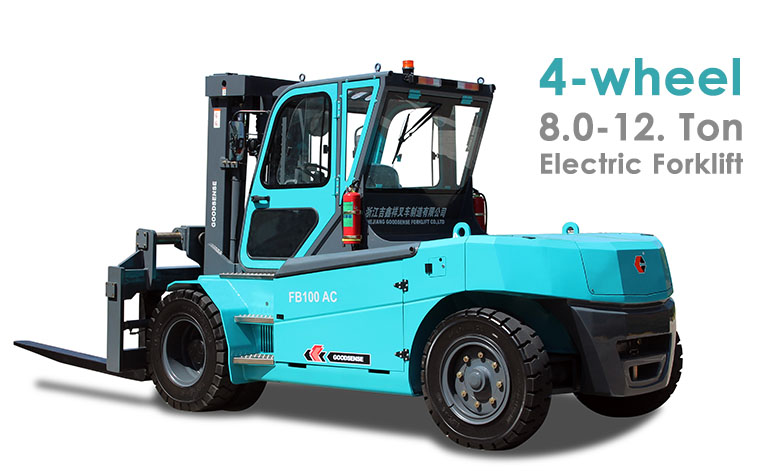 4 Wheel 8-12 ton Electric Forklift truck